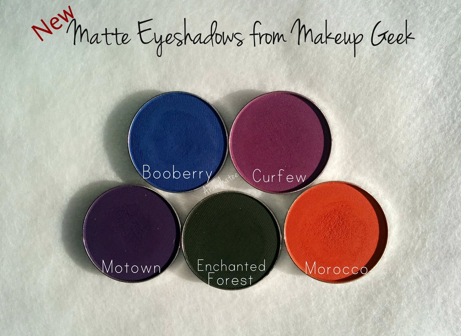 Makeup Geek New Matte Eyeshadows : Review and Swatches!!!