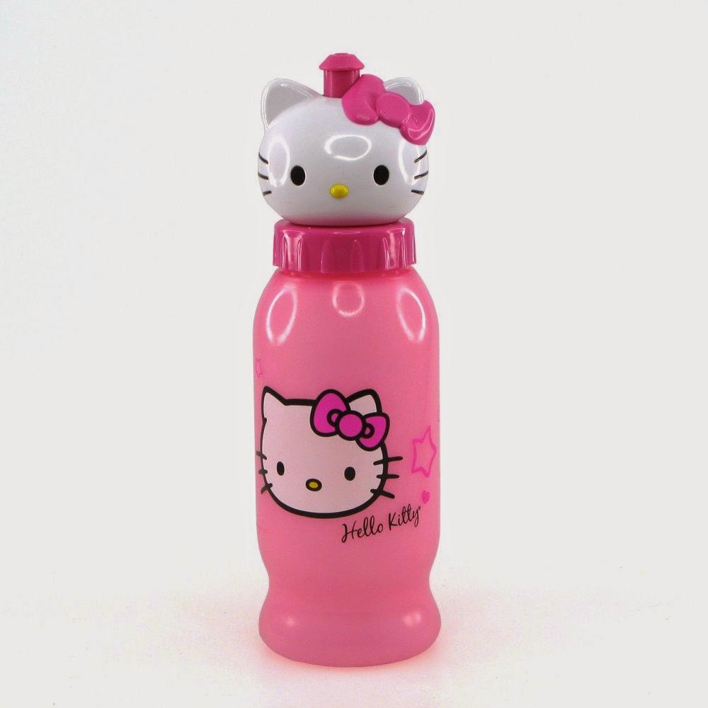 Gambar lucu botol minum hello kitty warna pink untuk anak