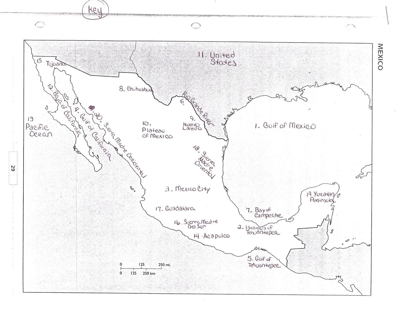 mexico map test key