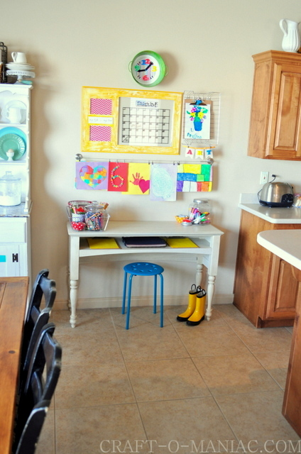 Kids Art And Homework Station