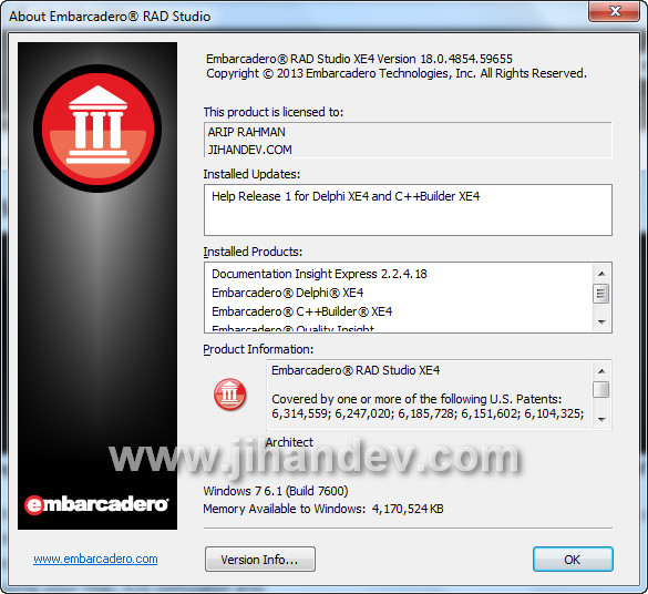 Delphi XE4 Official ISO + Activator v7.0 + How to Activate Delphi XE4