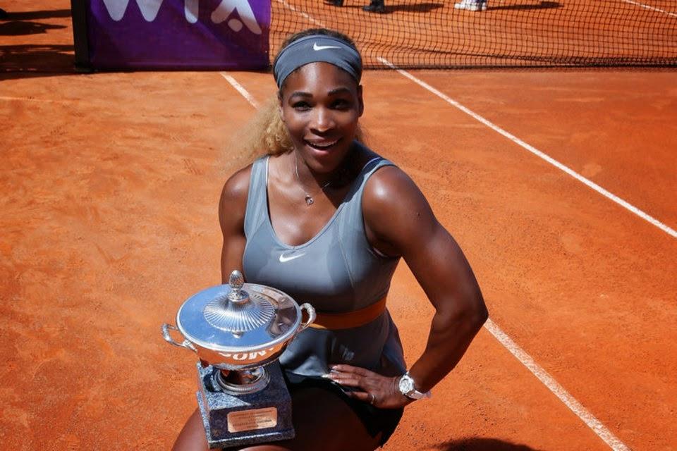 Serena Williams conquista Roma por tercera vez