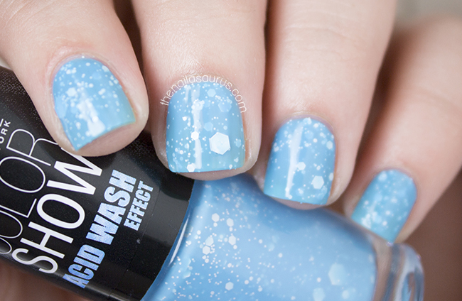 Maybelline Acid Wash Effect: Ripped Tide Swatch   The Nailasaurus