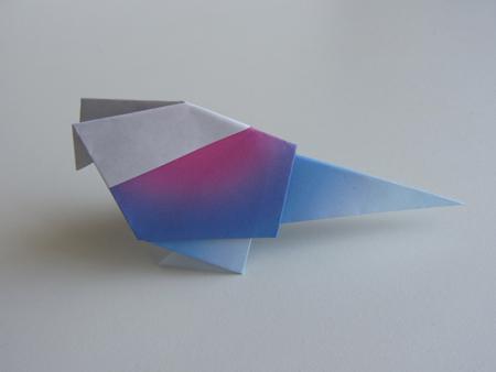 Origami origami bird for Origami bird instructions