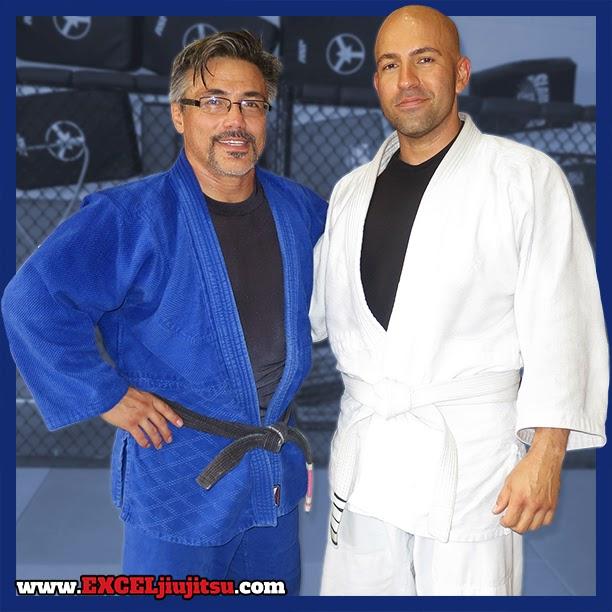Brazilian Jiu Jitsu Professor Michio Grubbs with student Johnny Bruno