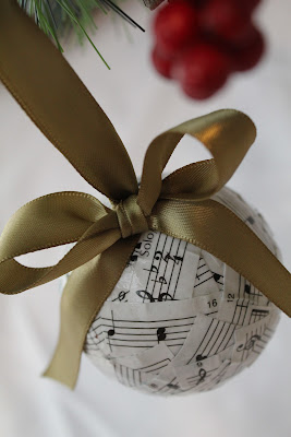 Sheet Music Mod Podge Ornament - Turtles and Tails blog
