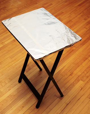 How To Make A Portable Ironing Board From A Tv Tray Table A Little Crispy