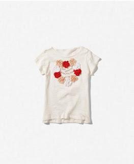 Camiseta con flores niña Zara primavera/verano 2012.