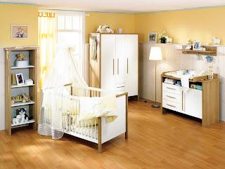 dormitorio bebés paredes amarillas