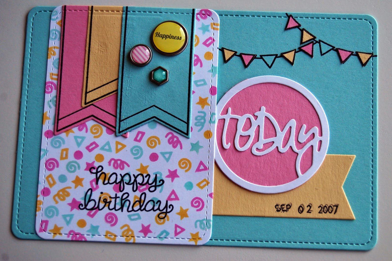 DIY PL card with Lawn Fawn stamps and dies by Mandy Reedyk