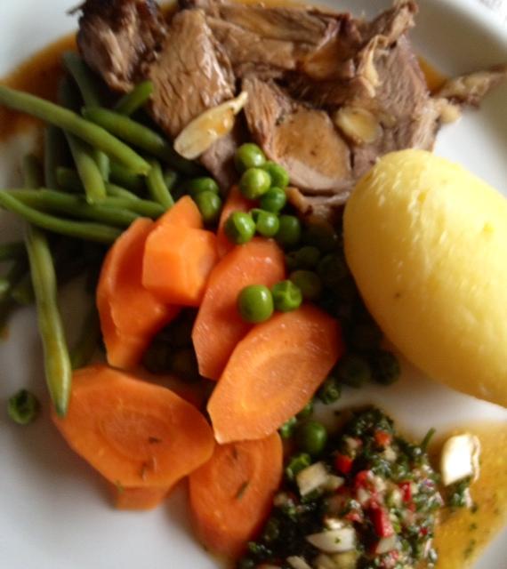 Fraeulein Trudes Kochversuche: Easter sunday roast - leg of lamb