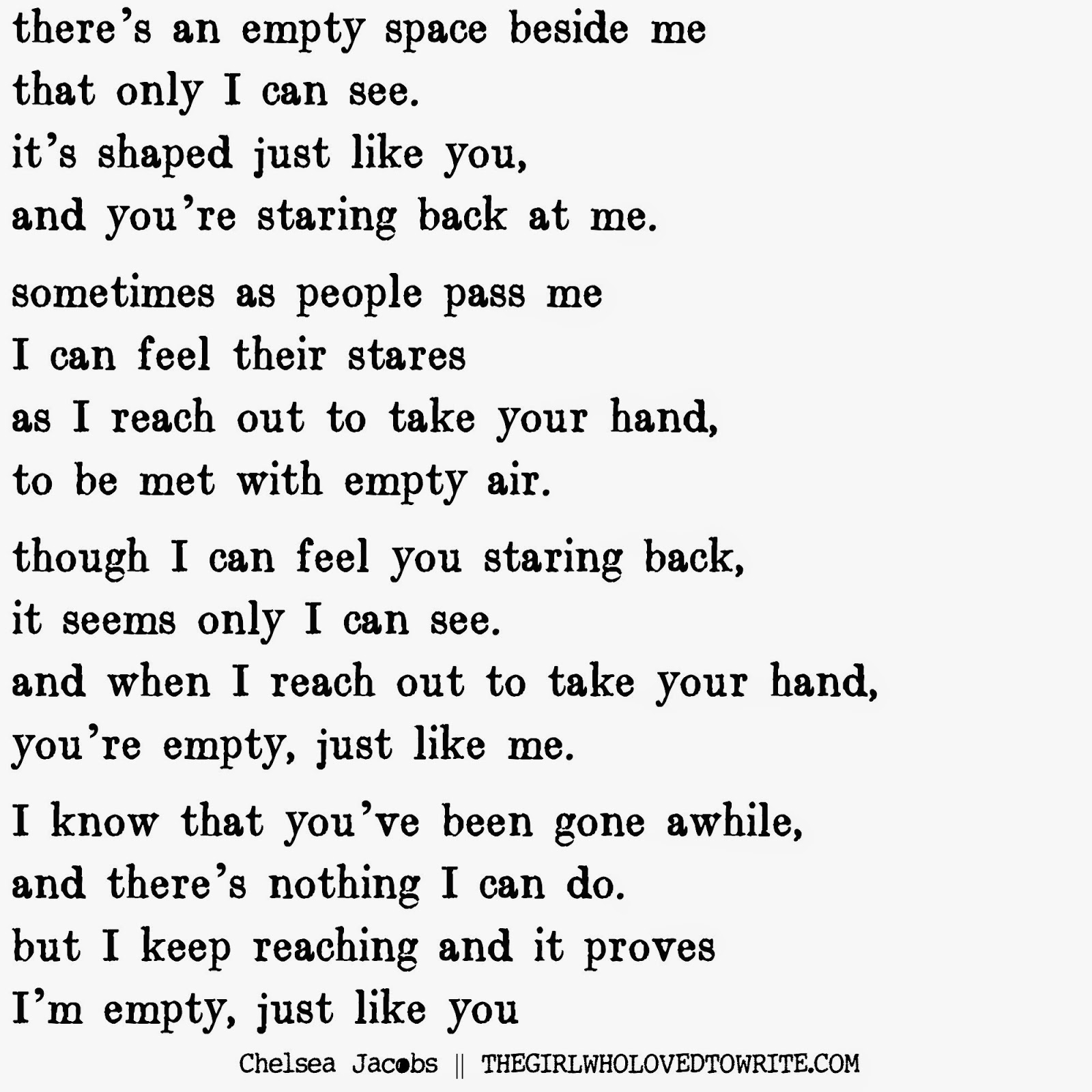 an empty space poem
