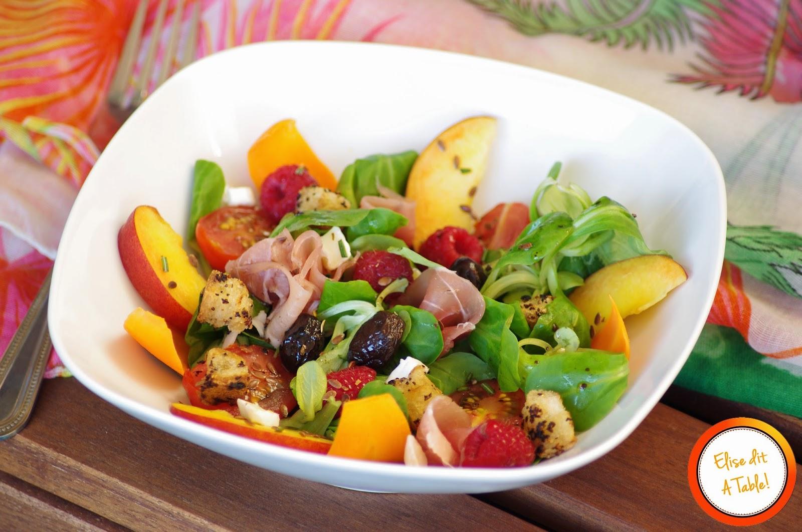Recette salade fra cheur estivale blog cuisine for Entree estivale