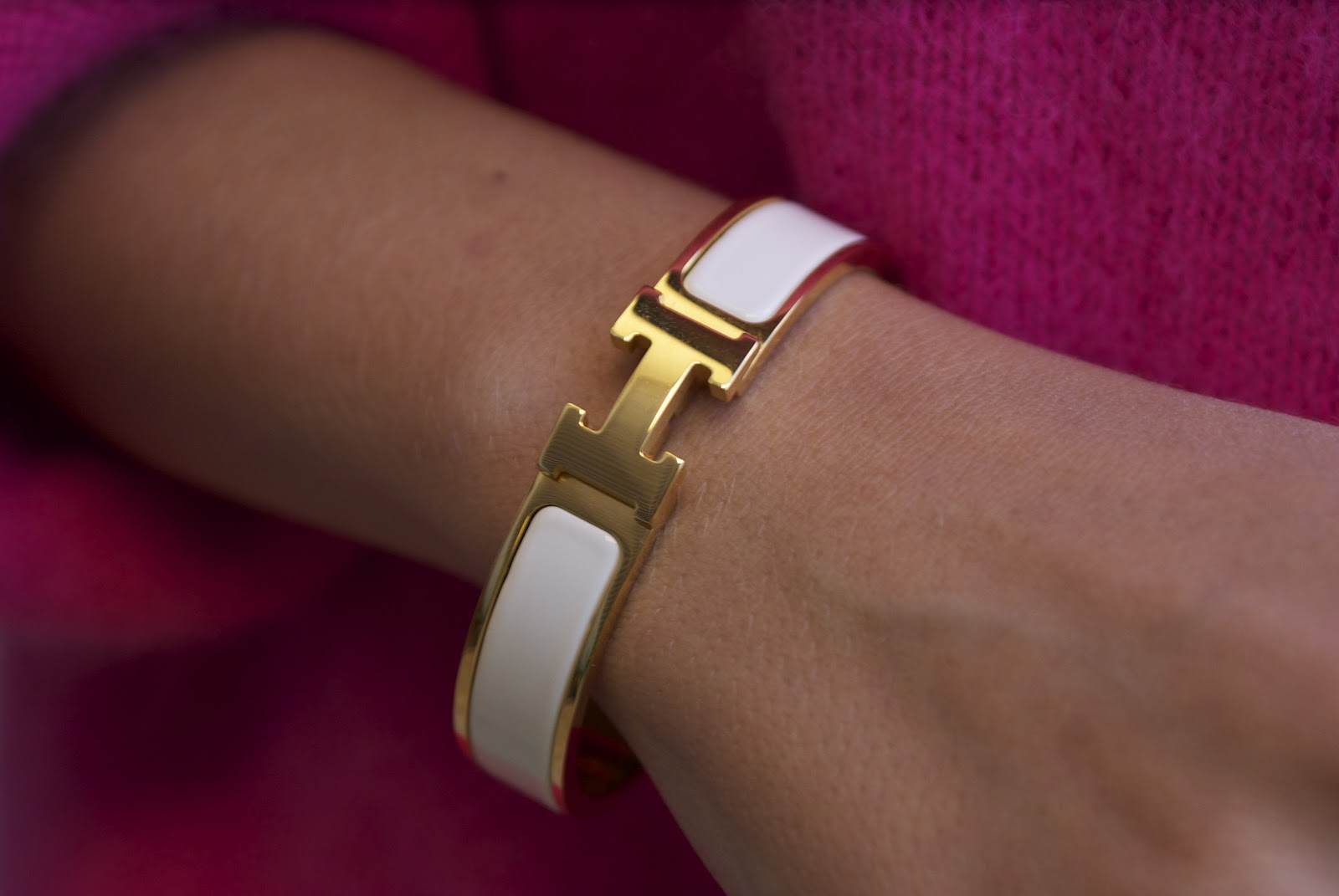 we finally got an hermes clic clic bracelet for our birthday it s ...