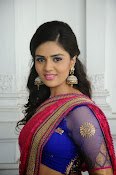 Sri Mukhi Gorgeous Half saree Photos-thumbnail-12