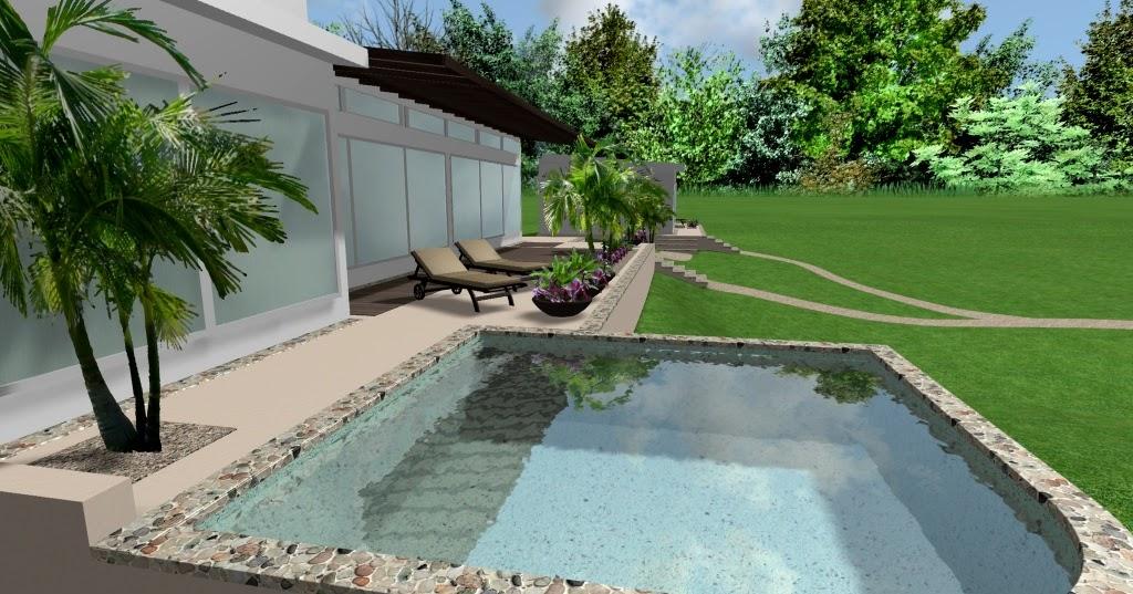 Dise o 3d para dos casas modernas y ecologicas con for Estilos de piscinas