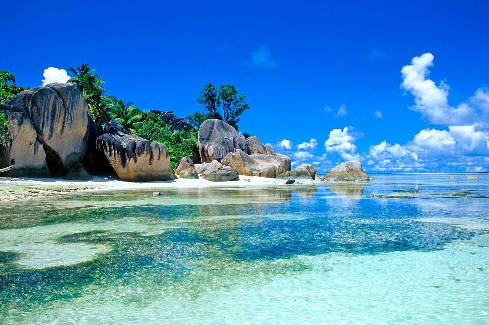 Seychelles Beach Wallpaper Desktop HD 1600 X 1063