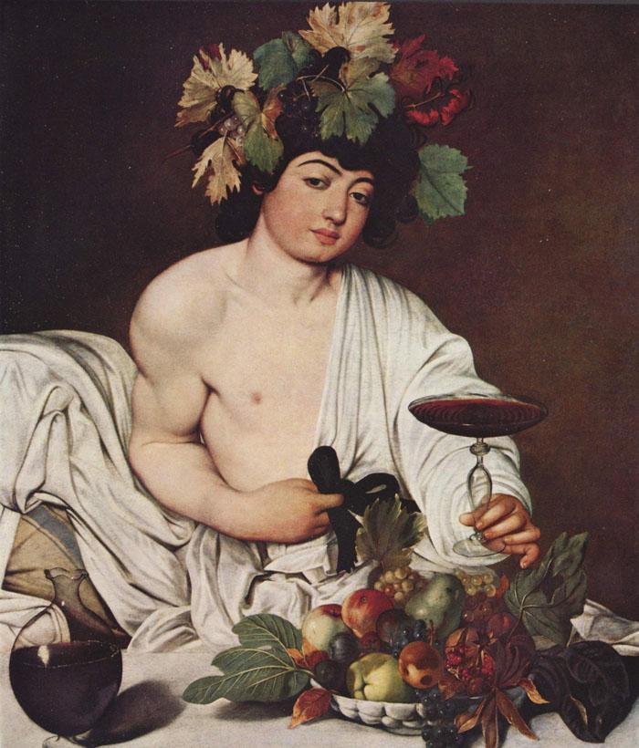 Baco, pintado por Caravaggio.