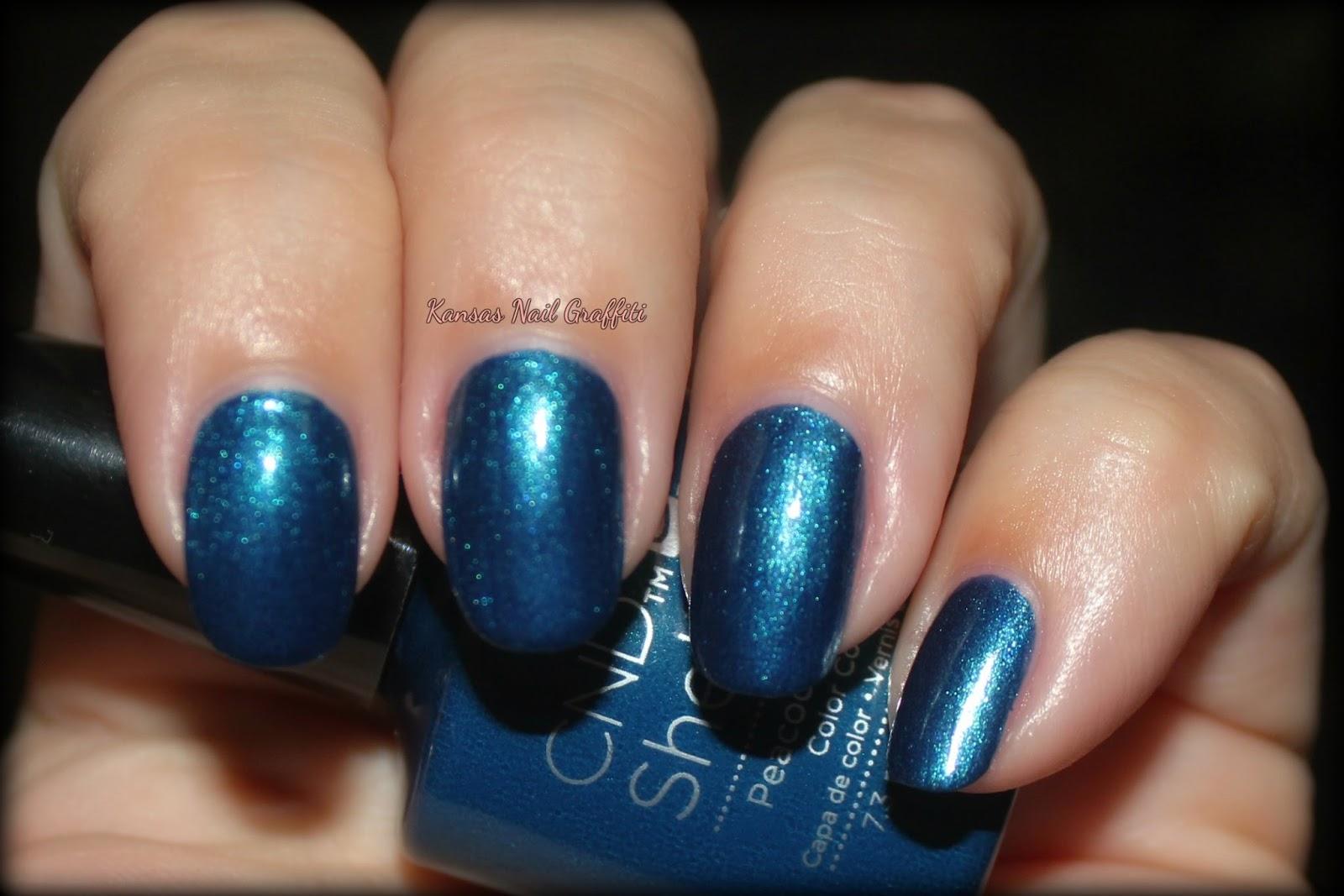 Peacock plume cnd на ногтях