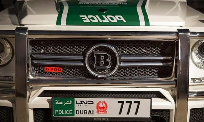 Brabus have revealed the Brabus B63S 700 Widestar Dubai Police Edition at the Dubai Motor Show 2013.
