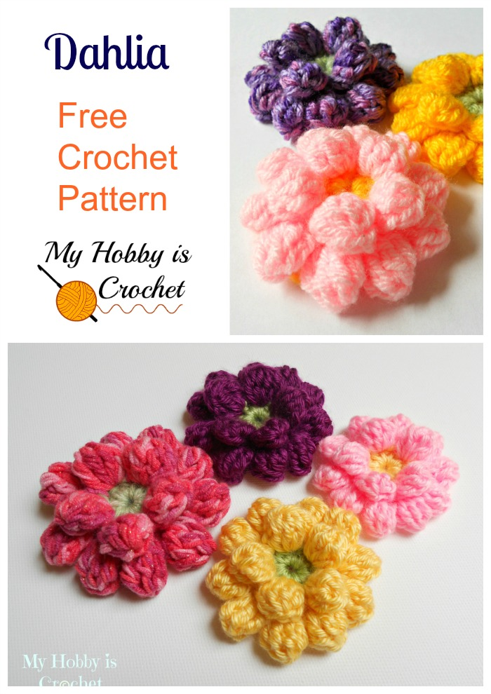 My Hobby Is Crochet Crochet Dahlia Flower Free Pattern With Step