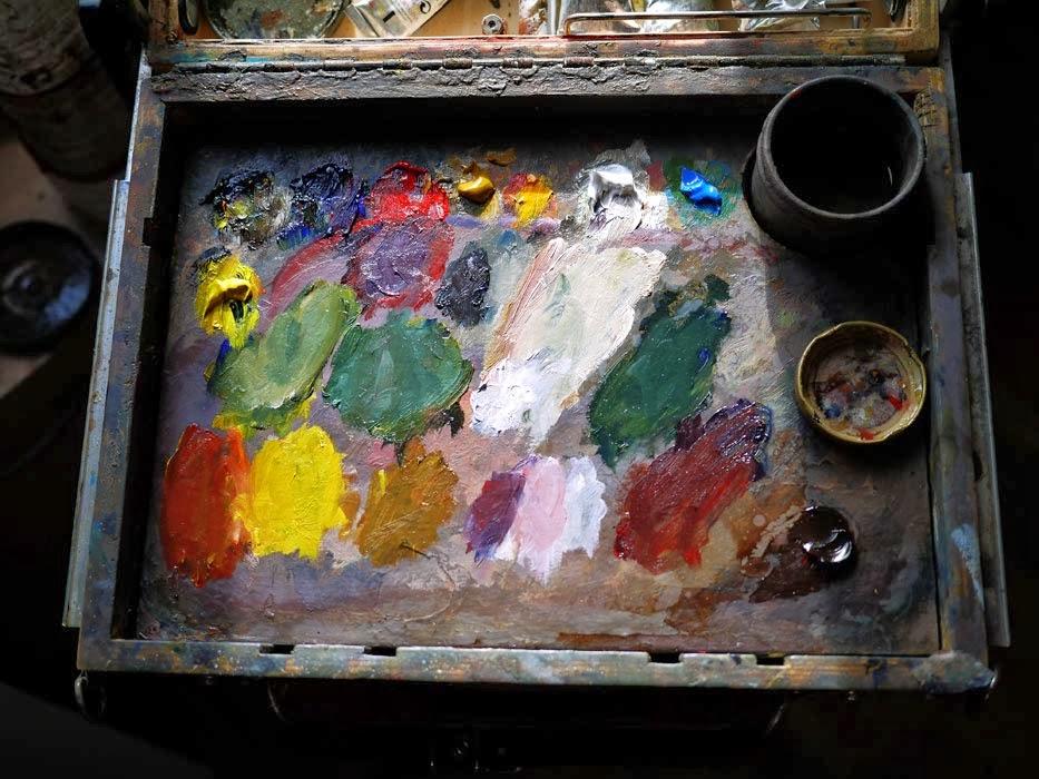 Peindre un bouquet de fleurs yann hovadik 39 s fine art for Peindre palette