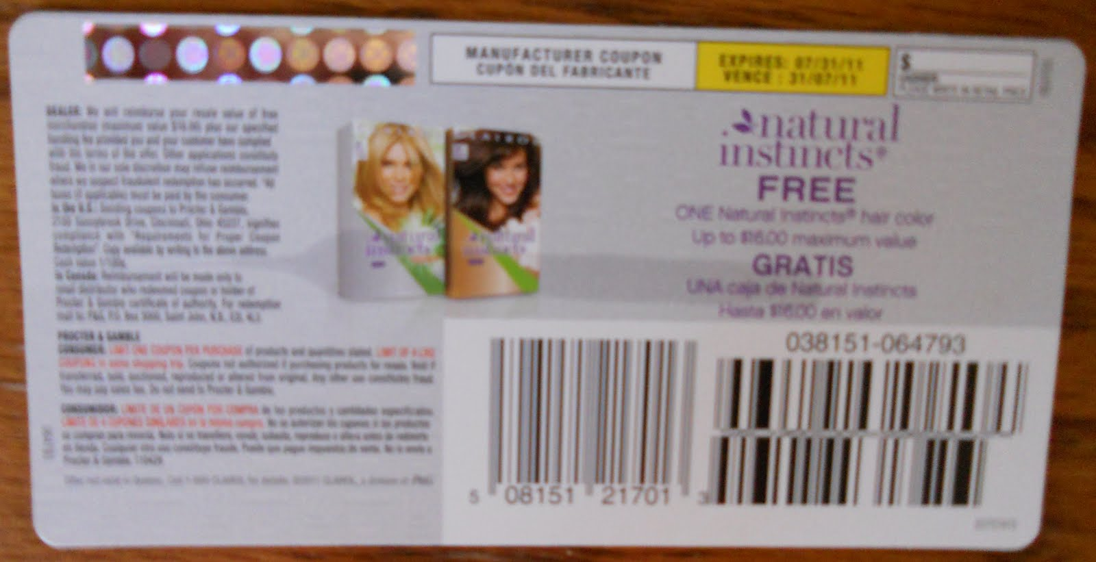 Buy 1 – Clairol Natural Instincts Hair Color $, sale price through 9/16 At Printable Coupons and Deals, we do our best to post all the printable coupons, digital coupons and deals we can find that will save you money. We are a family of 6, so every dollar has to stretch.