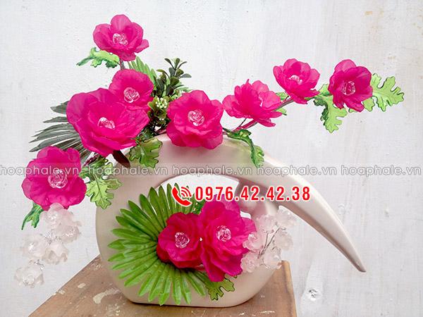 Mẫu hoa hồng cắm bình nghệ thuật