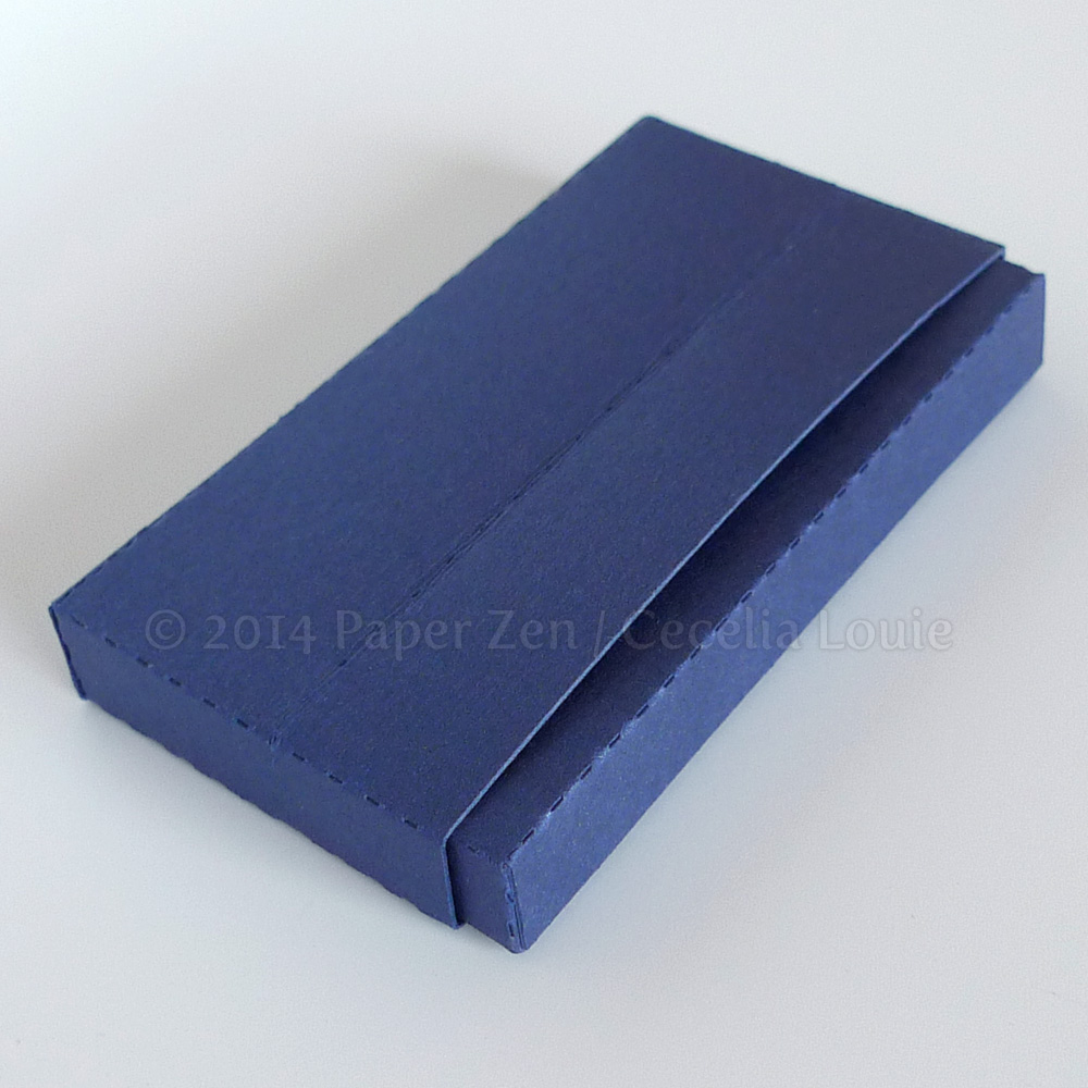 Paper Zen: Business Card Holders (via digital die cutter)
