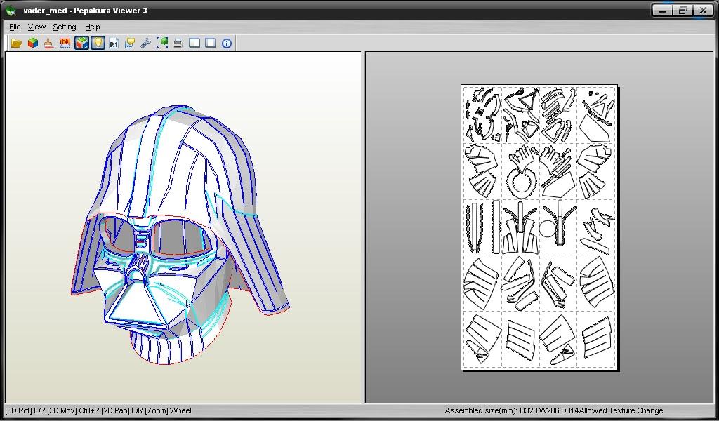 Mascara Darth Vader Papercraft - Unifeed.club