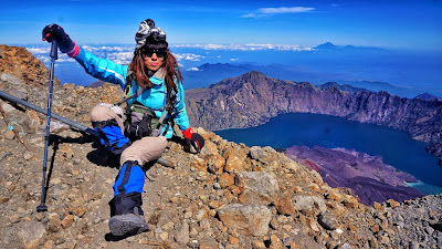 On top of Rinjani Mountain
