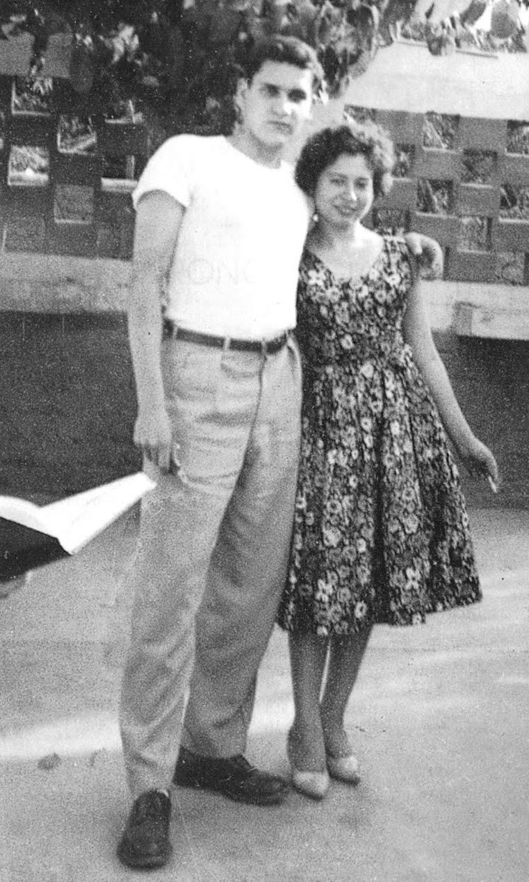 Javier Heraud Pérez y Camen Luz Bejarano en 1960