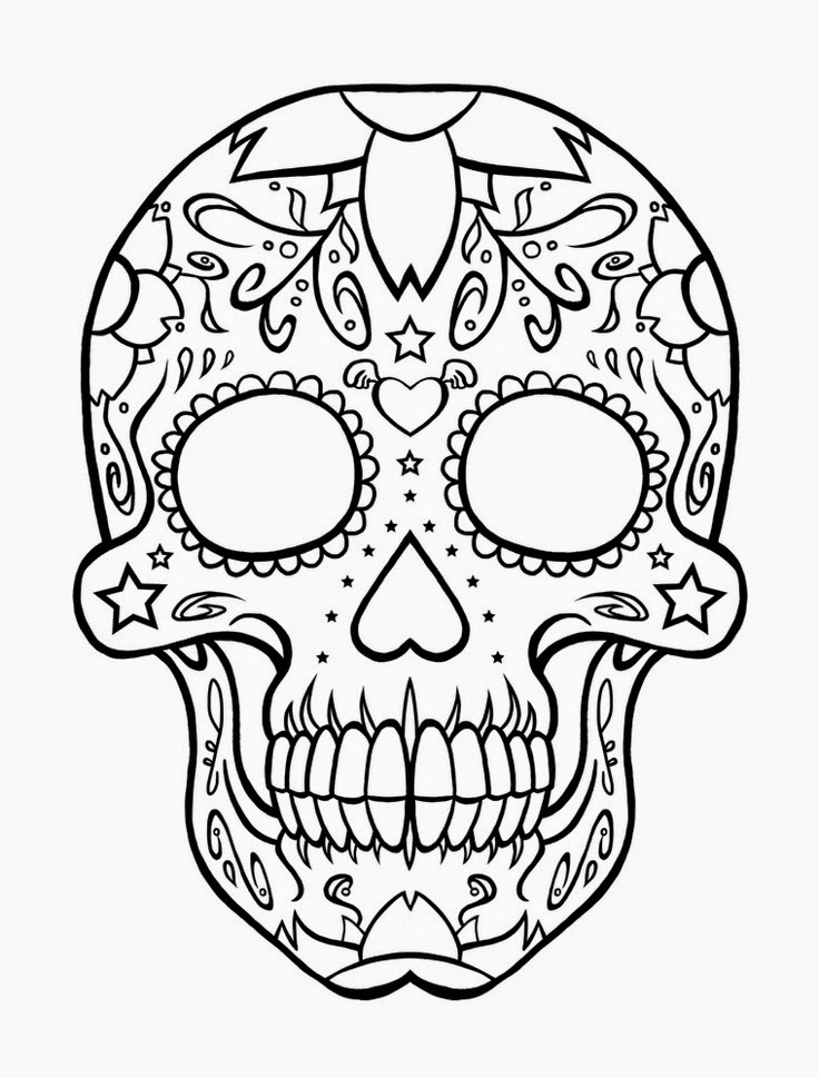 Vibrant image pertaining to printable sugar skull
