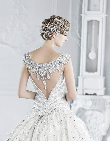 Ball Gown Wedding Dress with Stunning Back