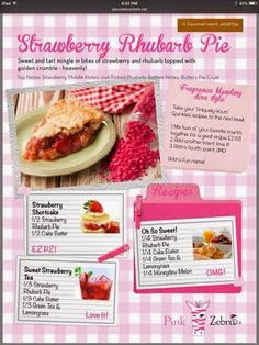 strawberry rhubarb pie sprinkle recipes image