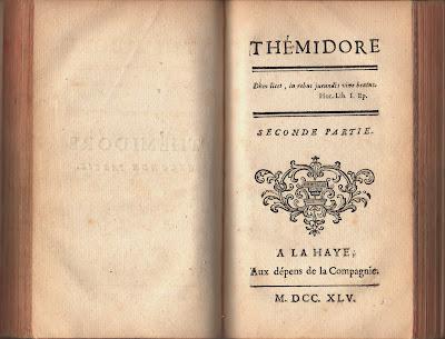 Thémidore de Godard d'Aucour (1745). Edition originale rarissime dans Bibliophilie, imprimés anciens, incunables themidore