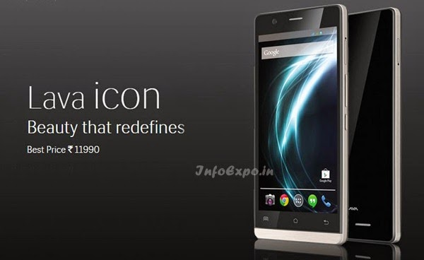 Lava icon: 5 inch,1.3GHz Quad Core Android Phone Specs, Price