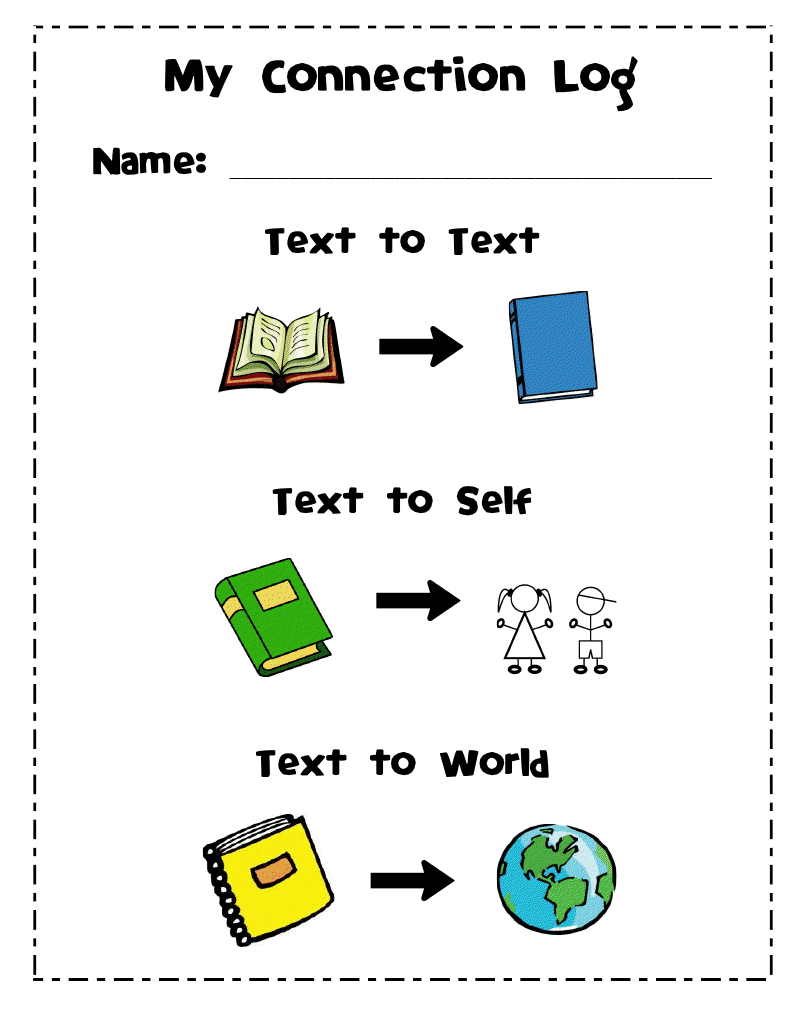worksheet Making Connections Worksheets wards way of teaching text connections cover page for book click here