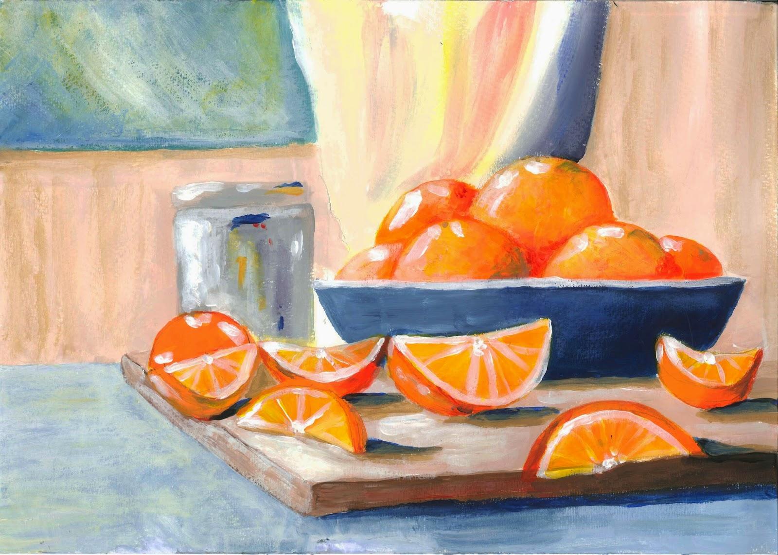 leben und ideen stillleben mit orangen. Black Bedroom Furniture Sets. Home Design Ideas