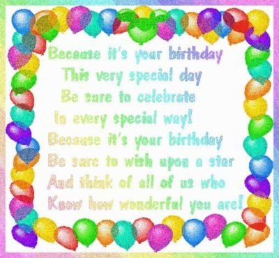birthday poems for cousins. happy irthday poems for a