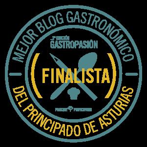 SEGUNDO PREMIO MEJOR BLOG GASTRONOMICO DEL PRINCIPADO DE ASTURIAS 2015