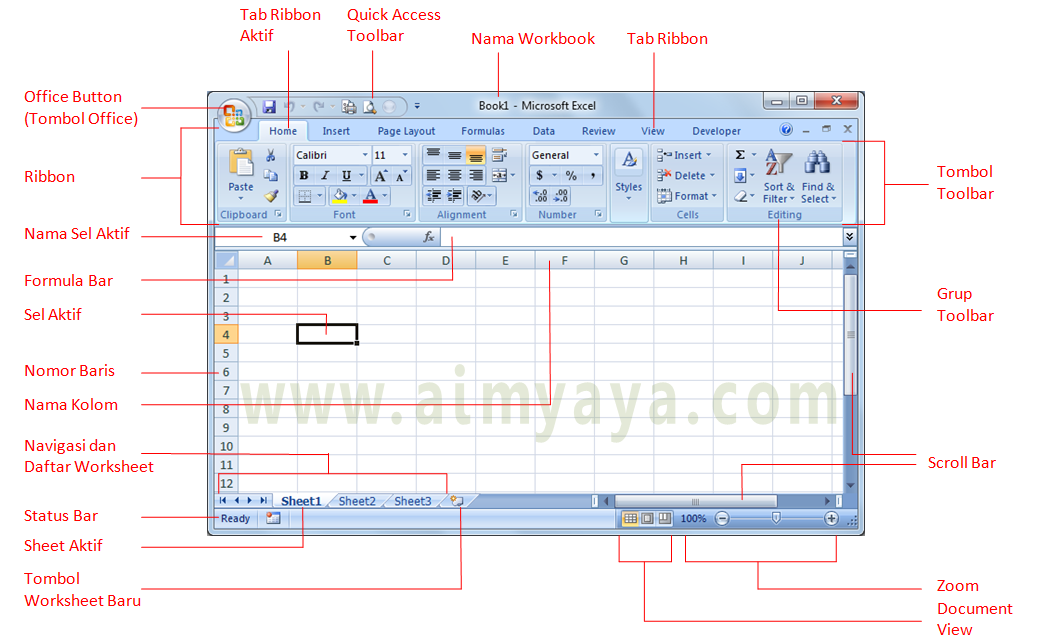 Belajar Dasar Dasar Microsoft Excel 2007 | Share The Knownledge