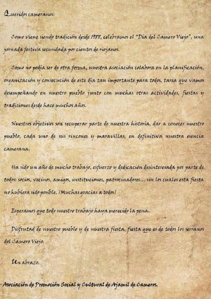 2 de agosto de 2014: XXVI Día del Camero Viejo en Ajamil de Cameros