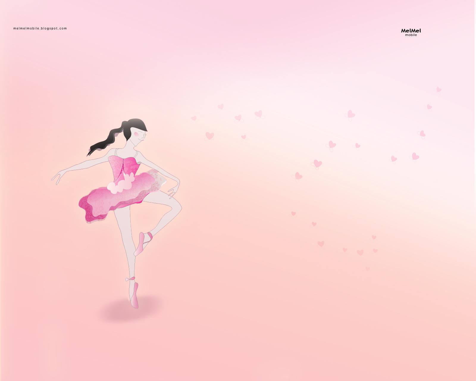 MelMel Ballerina Lock Screen Wallpaper