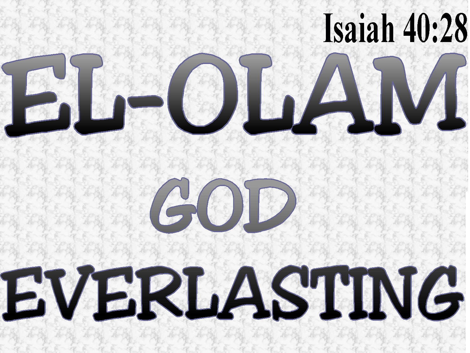The Meaning of God: EL-OLAM