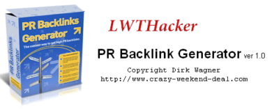 PR Backlink Generator Ver1.0