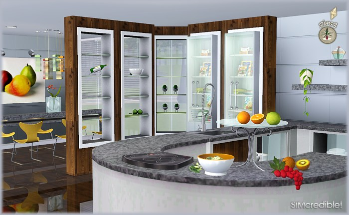 My sims 3 blog audacis kitchen set by simcredible designs for Sims 3 kitchen designs