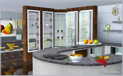 My sims 3 blog audacis kitchen set by simcredible designs for Kitchen design simulator