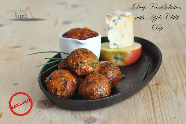 Deep Fried Stilton with Apple Chilli Dip ~ Simple Food