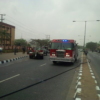 2 Killed As Sewage Disposal Truck Loses Control, Rams Into SUV In Lagos This Morning (Photos)